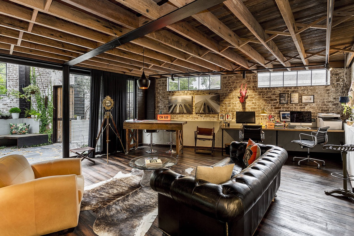 33 Inspiring Industrial Style Home Offices That Sport ...