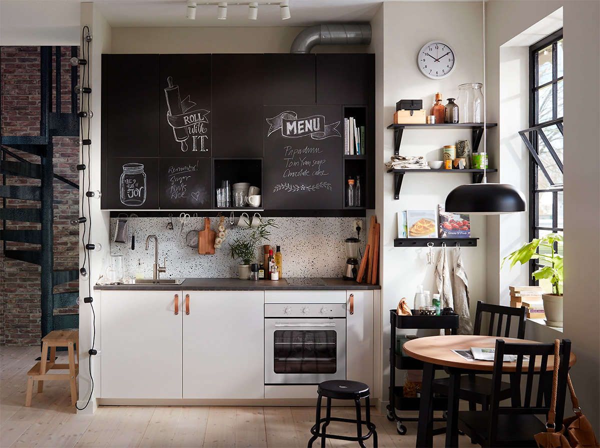 Chalkboard Paint Above Kitchen Cabinets