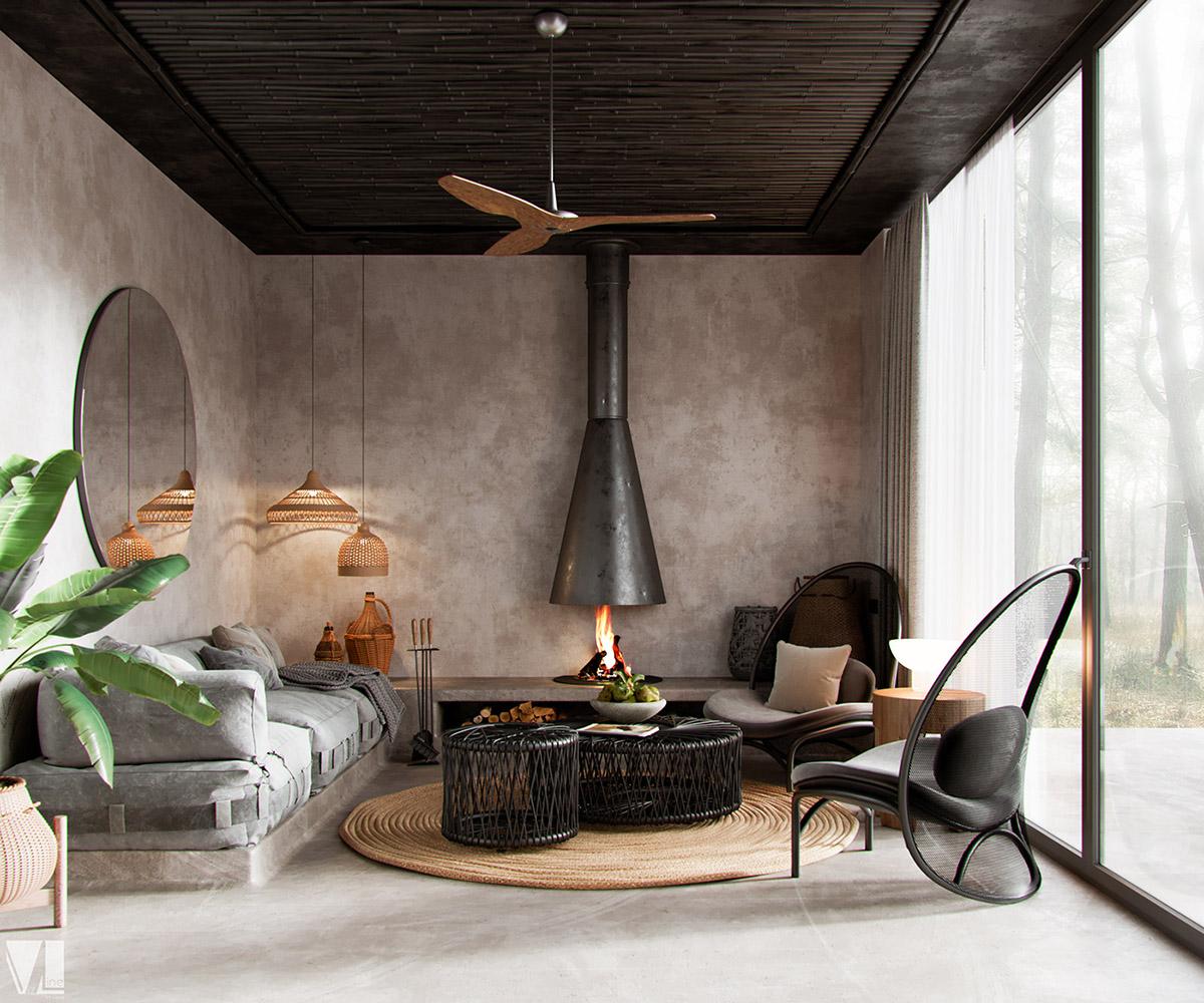 Boho Interior Decor Rustic: Two Nature Loving Boho Interiors