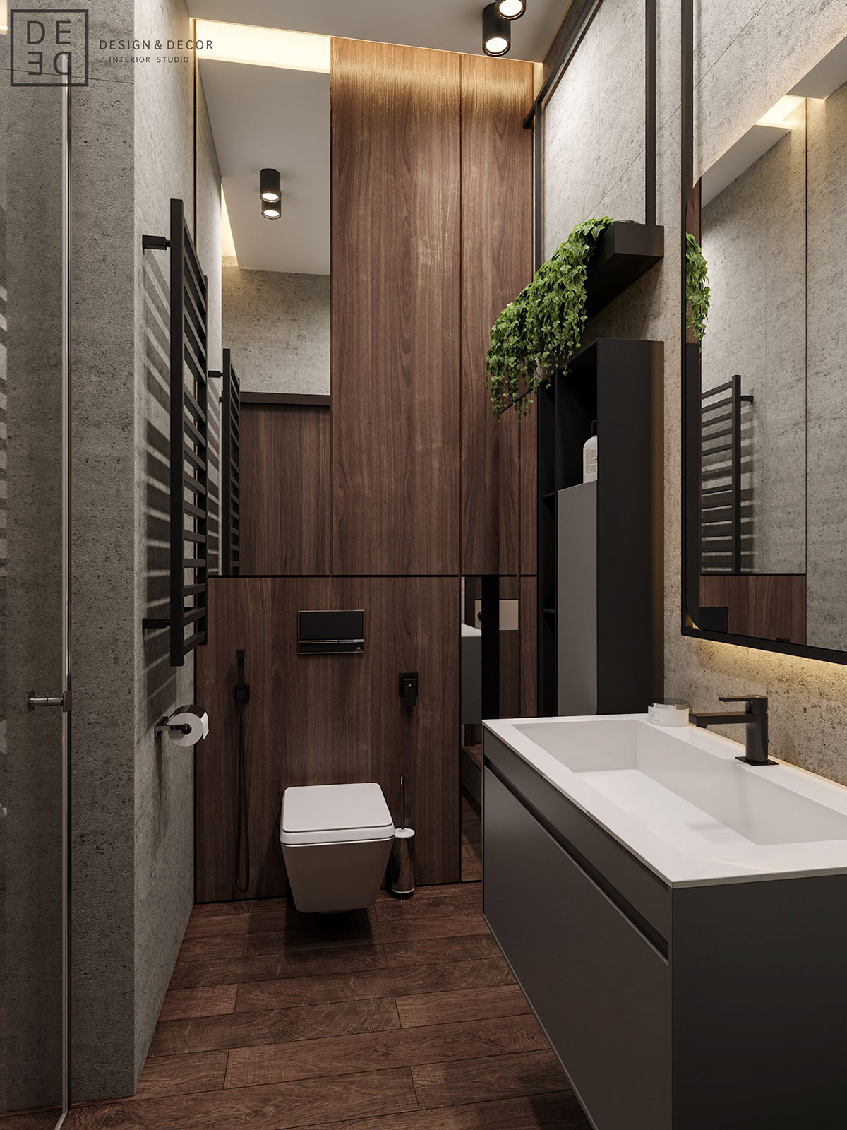 Luxurious Interior With Wood Slat Walls
