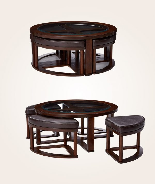 41 Nesting Coffee Tables That Save, Wood End Tables With Glass Top