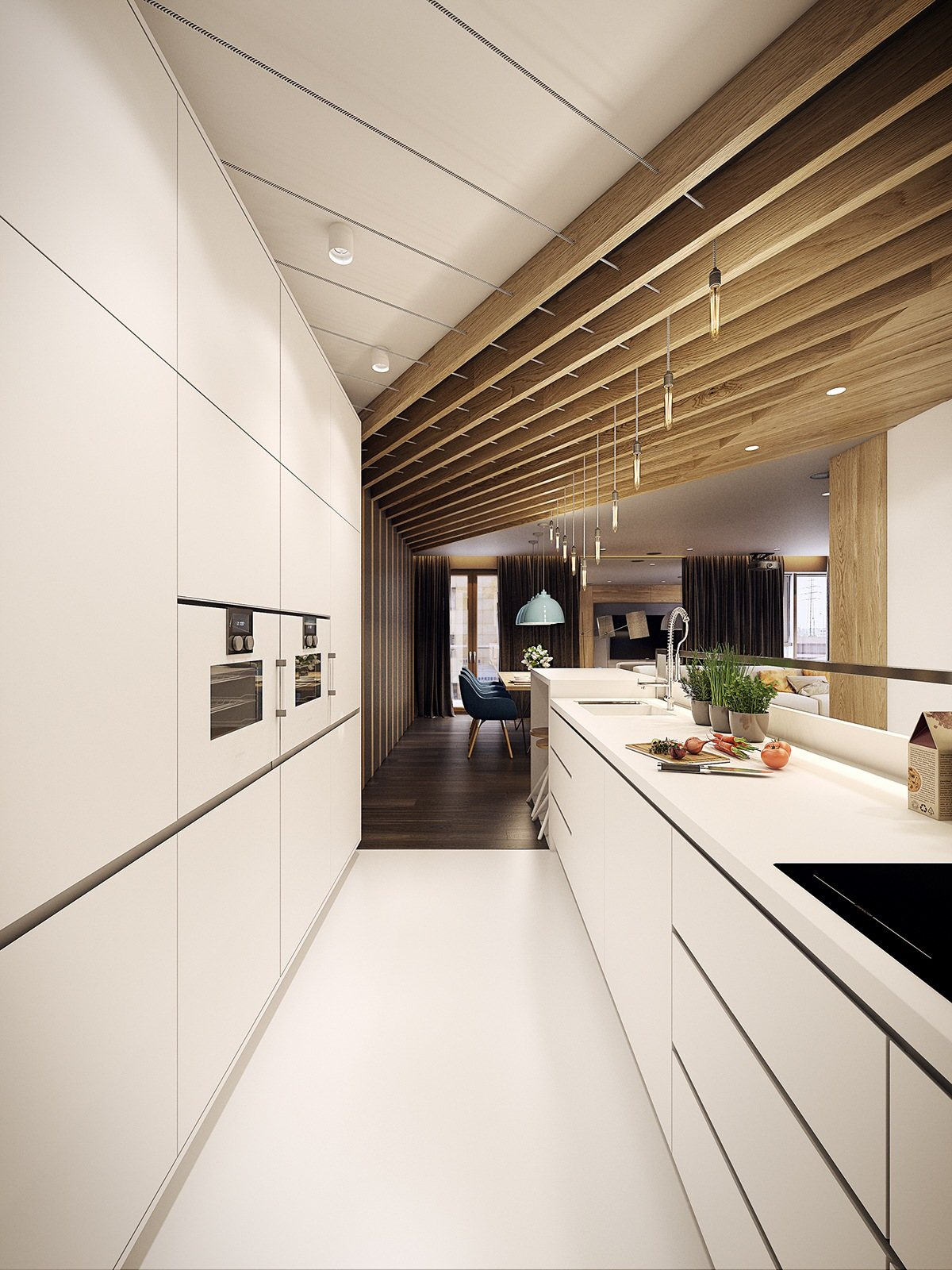 Cucina Open Space Moderna 50 gorgeous galley kitchens and tips you can use from them