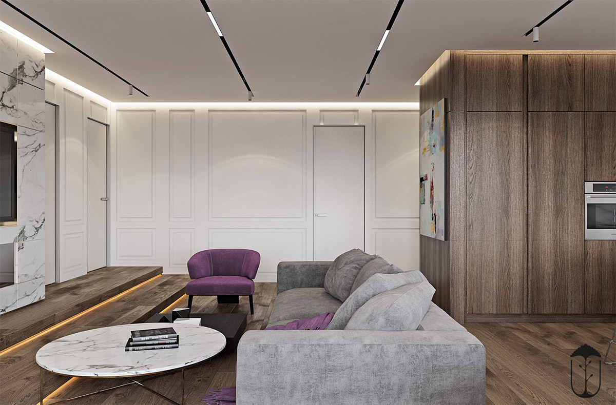 Swell A Cozy Modern Home With White Marble And Purple Accents Uwap Interior Chair Design Uwaporg