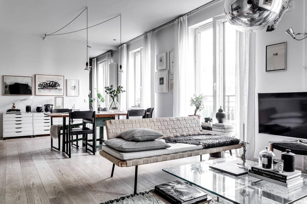 White Scandi style decor