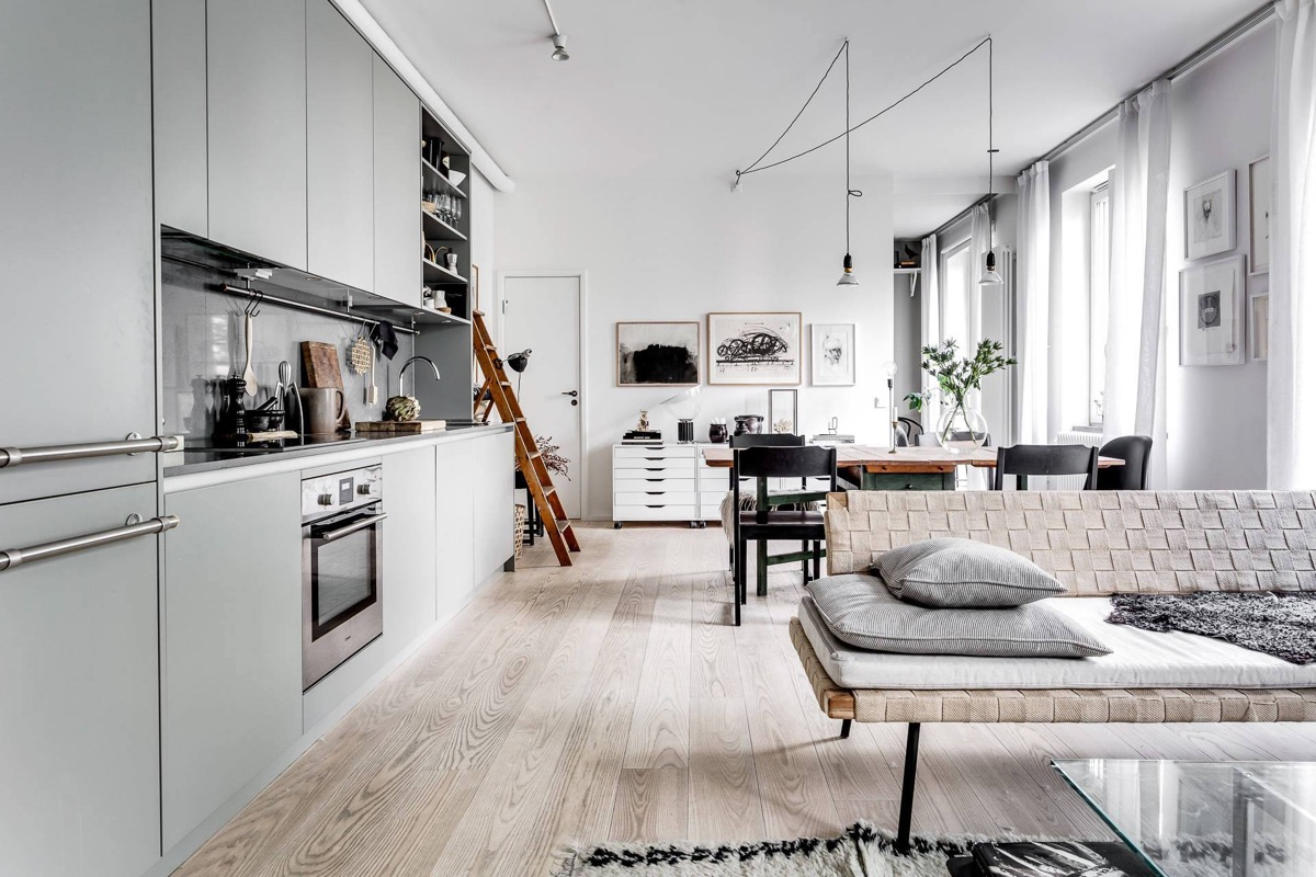 White Scandinavian style decor