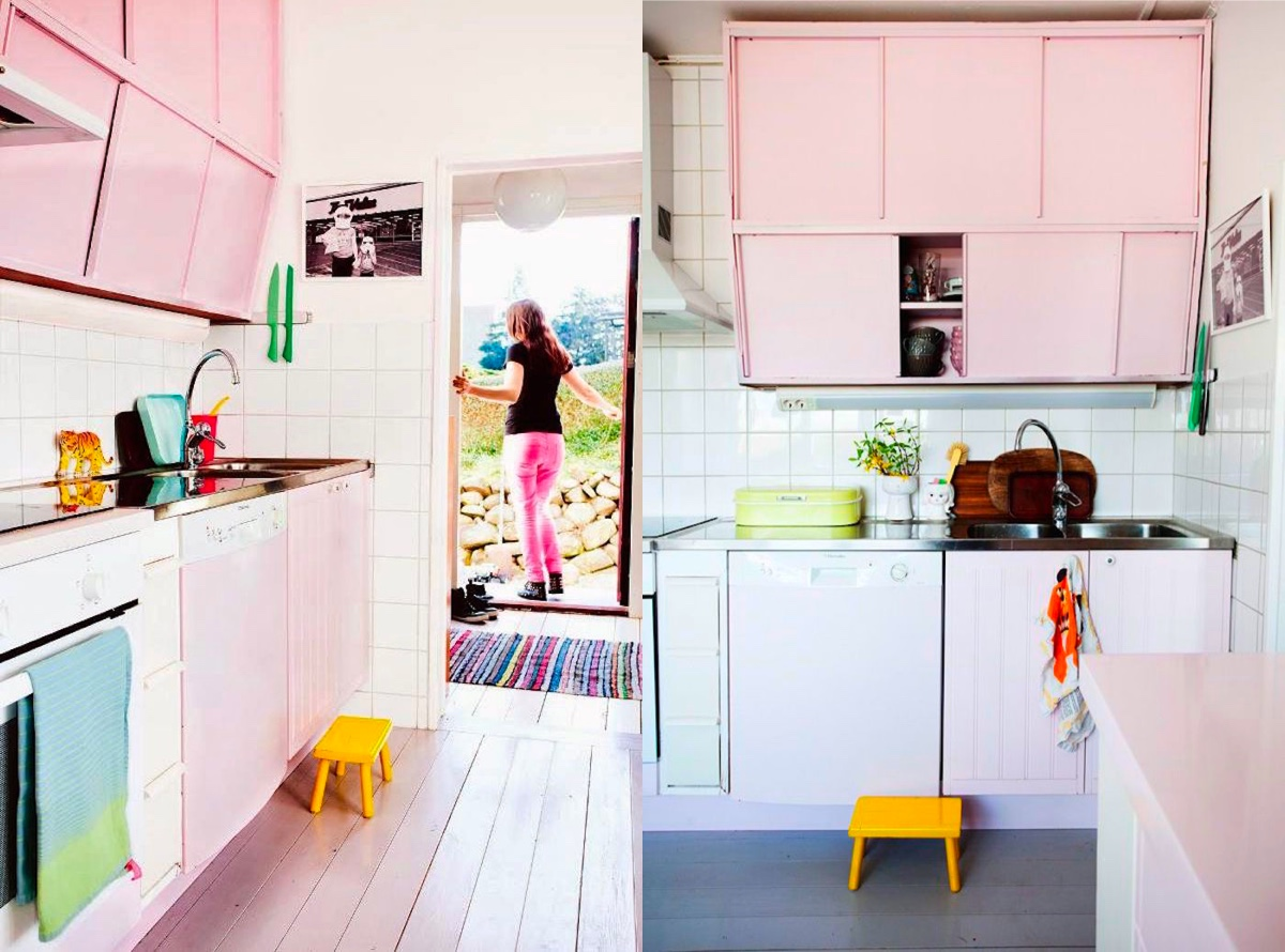 Just Because You Have A Pink Kitchen Doesn T Mean Can Enjoy Every Colour Of The Rainbow When It Comes To Your Accessories