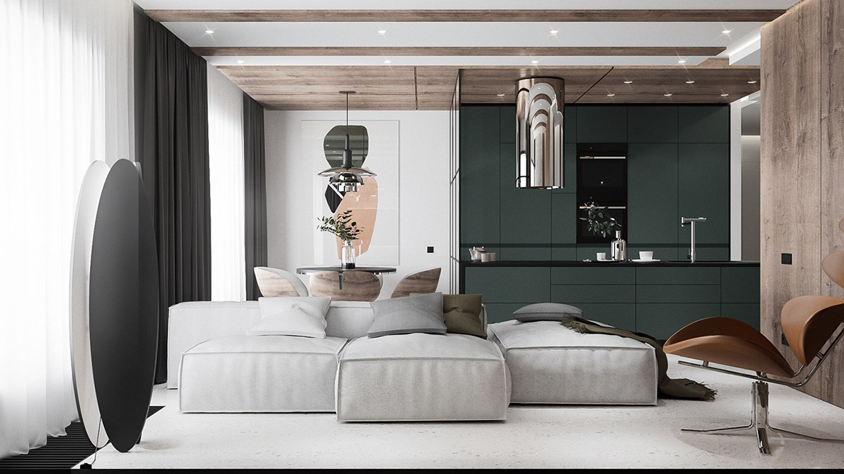 Modern Minimalist Apartment Designs Under 75 Square Meters 808 Feet