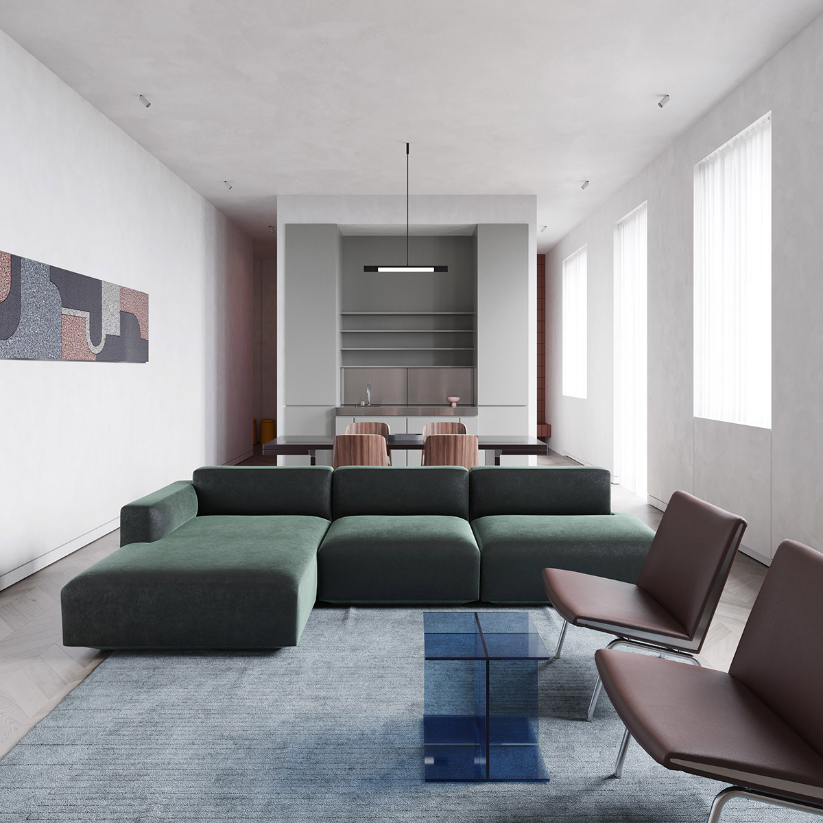 Apartment Living For The Modern Minimalist: Modern Minimalist Apartment Designs Under 75 Square Meters