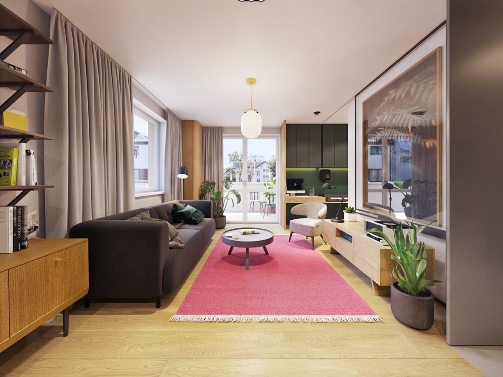 Color in compact apartments blends personality minimalism