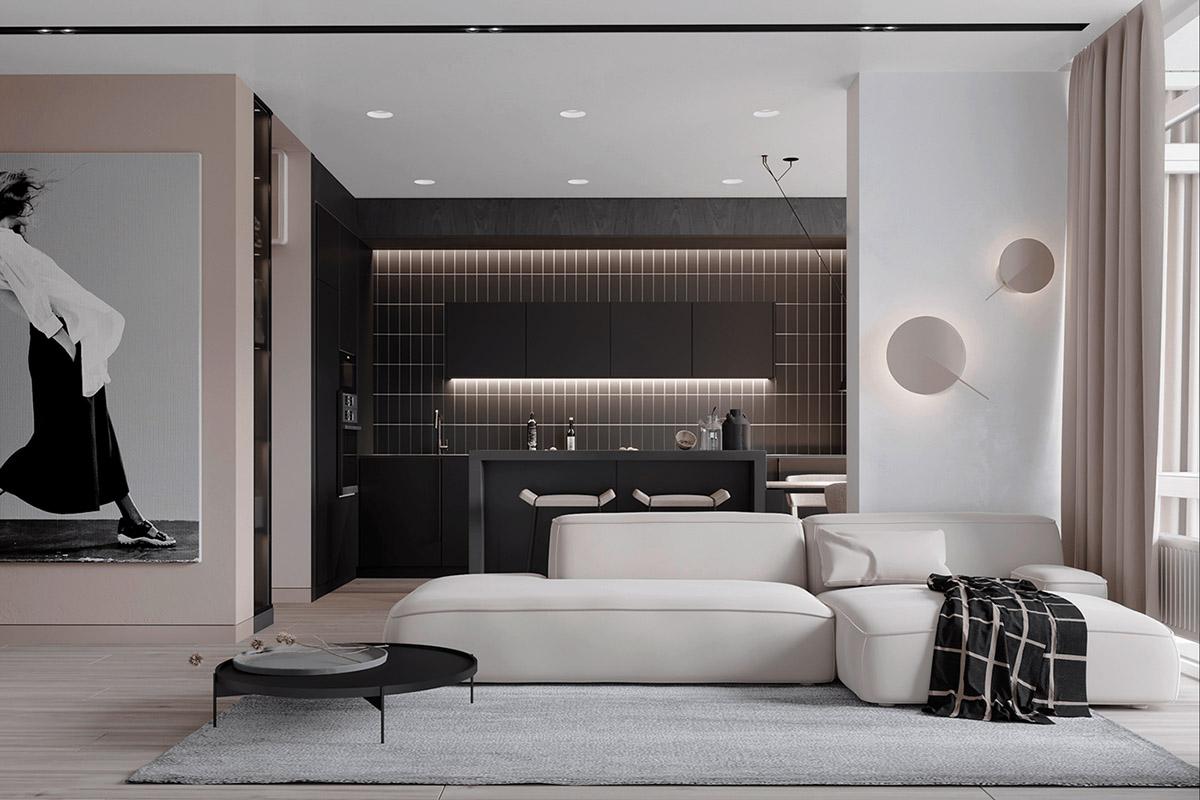 Black White Beige Apartment For The Fashionista