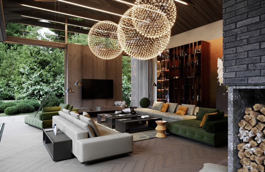 luxury living room design by ace   Dramatic Interior With Luxury Closets & Bathrooms