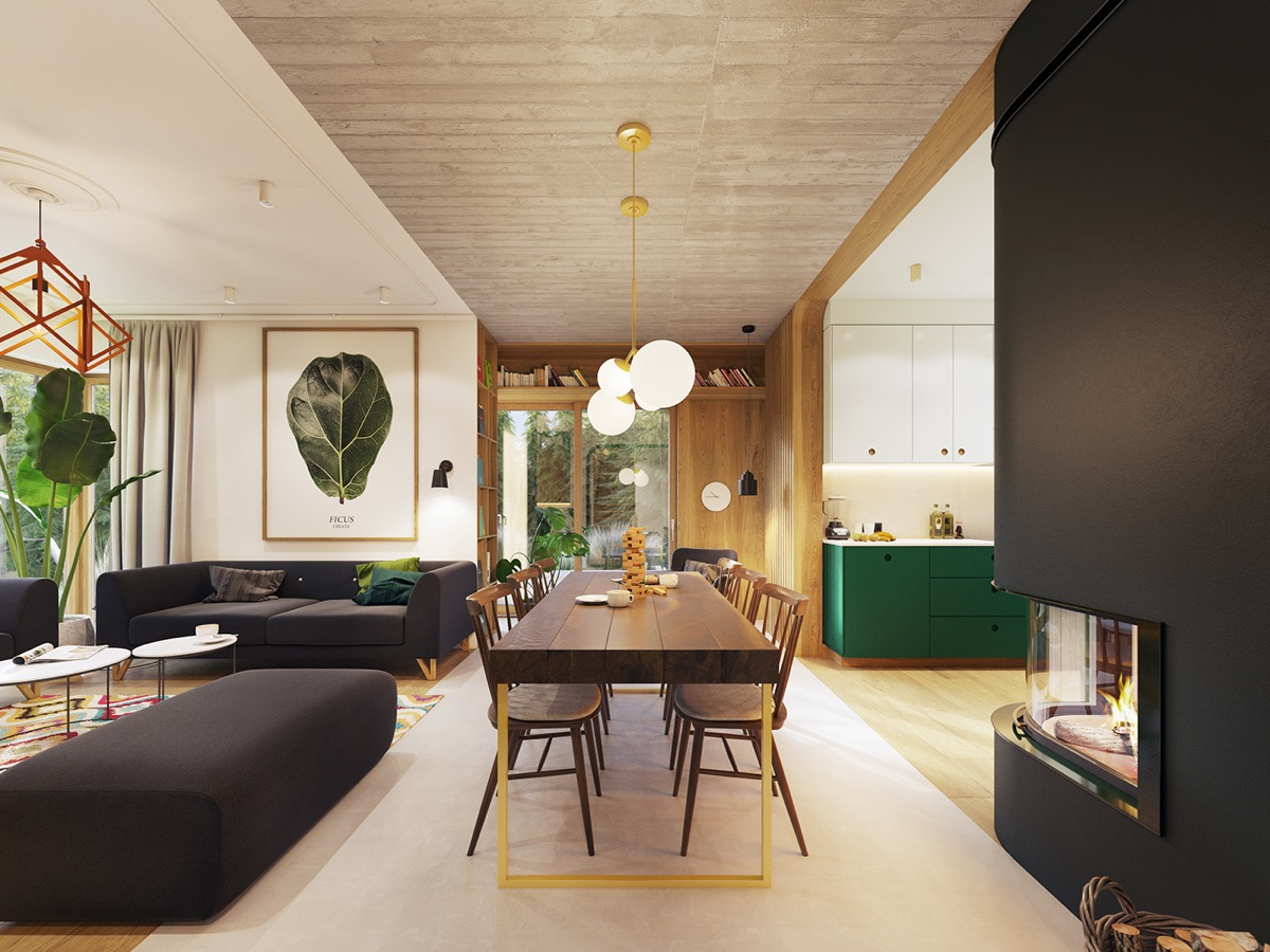 Garden Greens Add Personality To This Warm And Modern