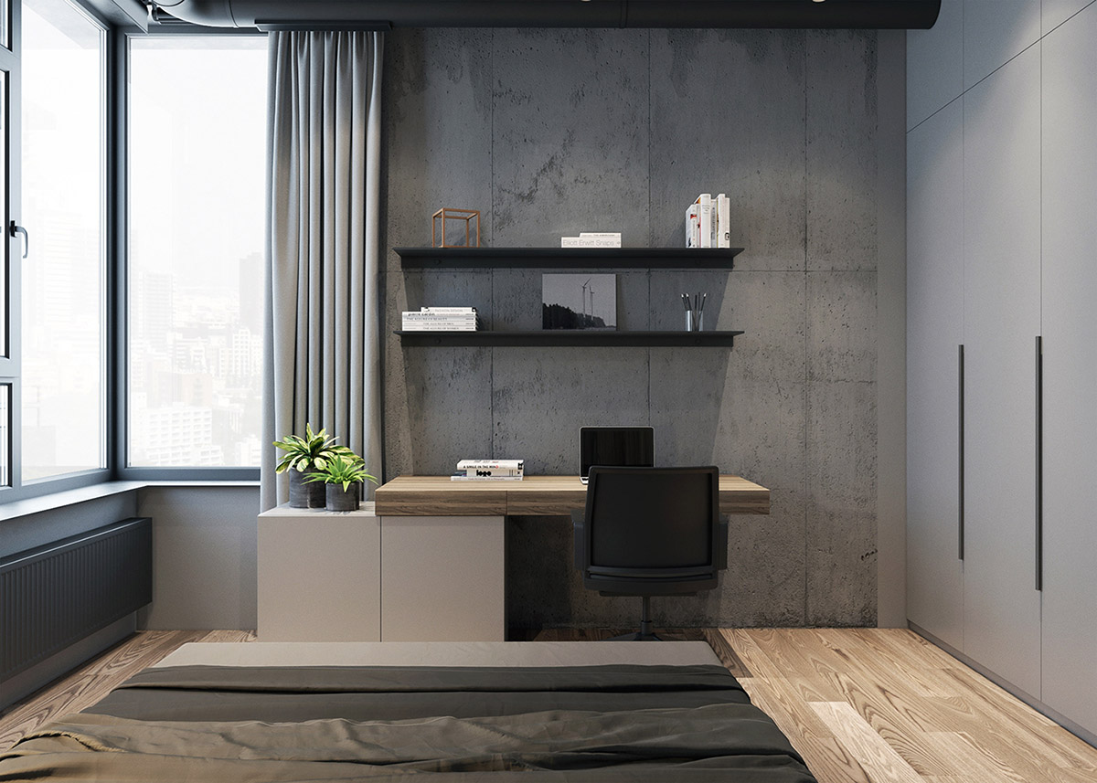 Grey Raw Masculine Interiors