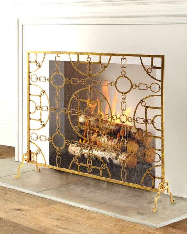 51 Decorative Fireplace Screens To Instantly Update Your Fireplace