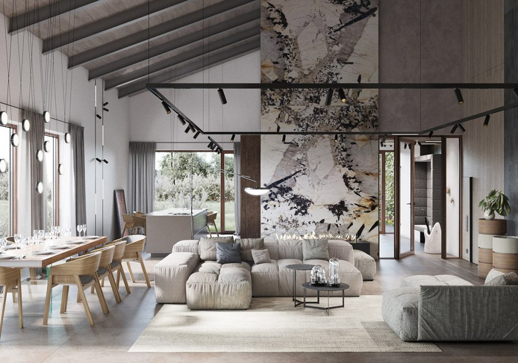Modern Rustic Interiors & Contemporary Country House Charm