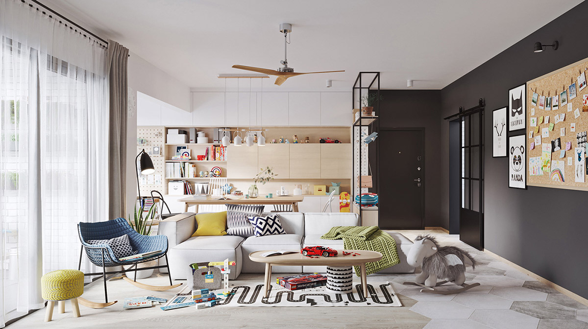 5 fresh funky scandinavian style home interiors