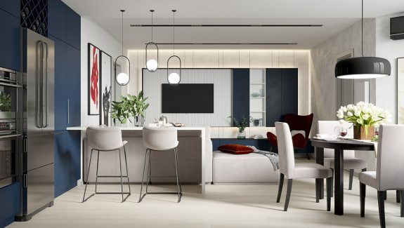Modern Interior That Doen't Shy Away From Colour