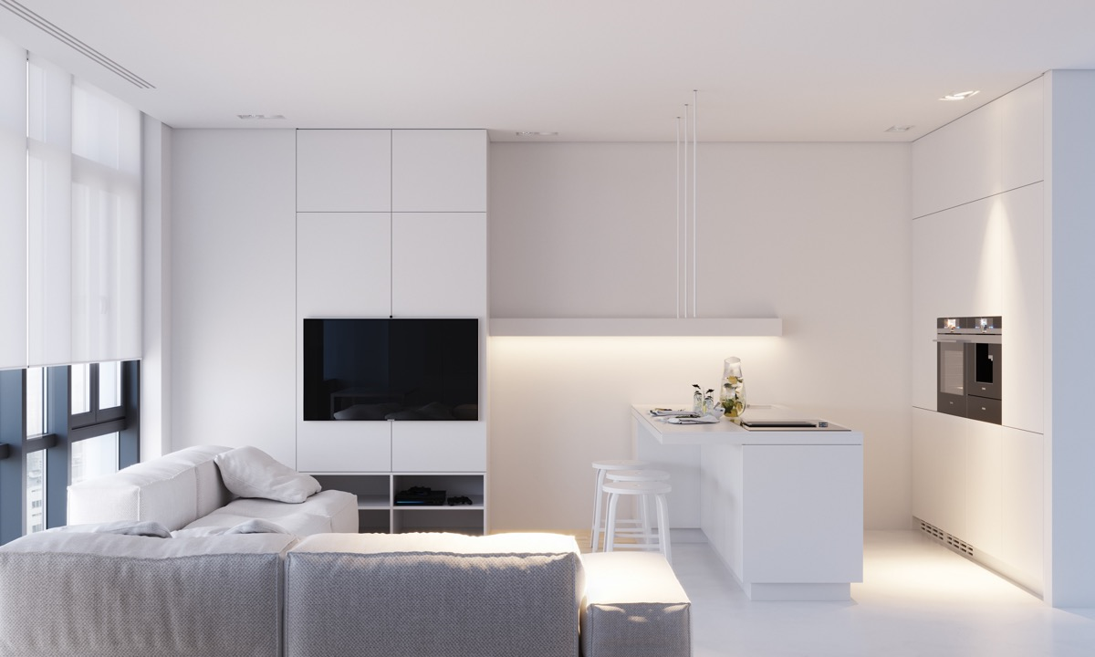 9 Minimalist Living Room Decoration Tips: White Minimalism: 3 Examples That Show How To Get It Right