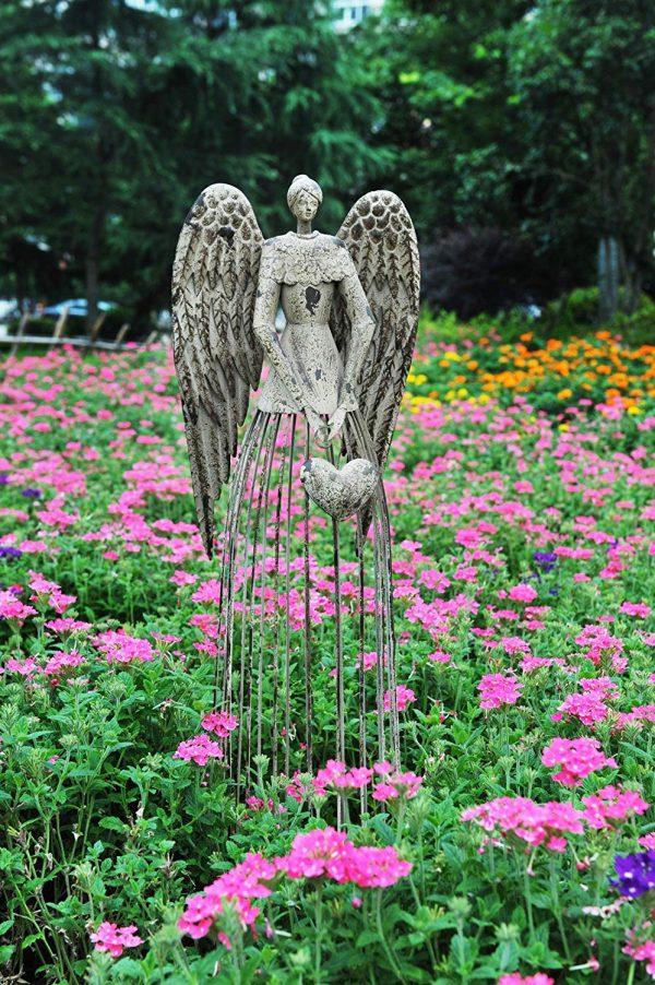 Garden Statues To Add An Artistic Touch, Flower Garden Statues