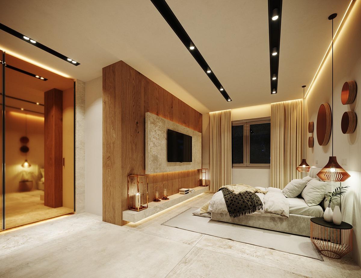 The re style of a luxury villa for Interni di case di lusso