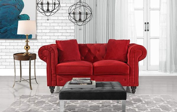 ultra modern red passion love seat   51 Loveseats That Are Comfortable, Modern, And Stylish