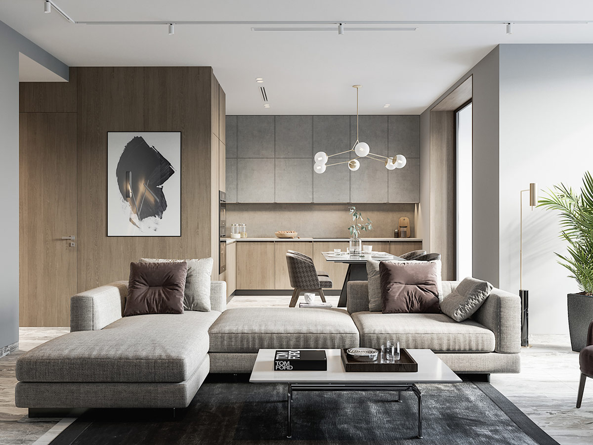 4 super swish interiors with a chic neutral palette for Zona living moderna