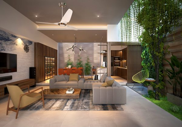 4 Homes That Feature Green Spaces Inside With Courtyards Terrariums Free Autocad Blocks Drawings Download Center