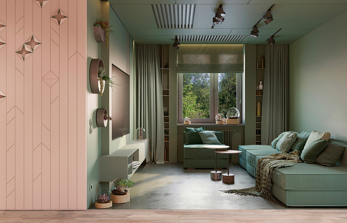 Interior Design Using Pink And Green 3 Examples To Help You Pull It Off