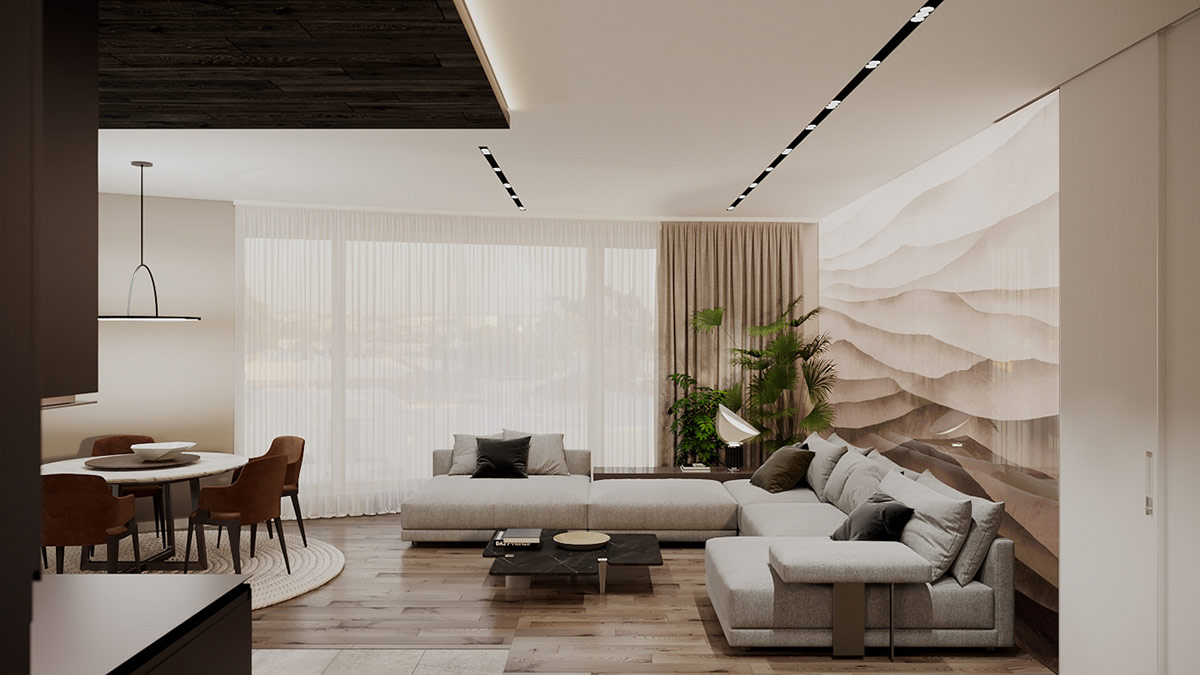 Cly Interior Designs With Slick Dark