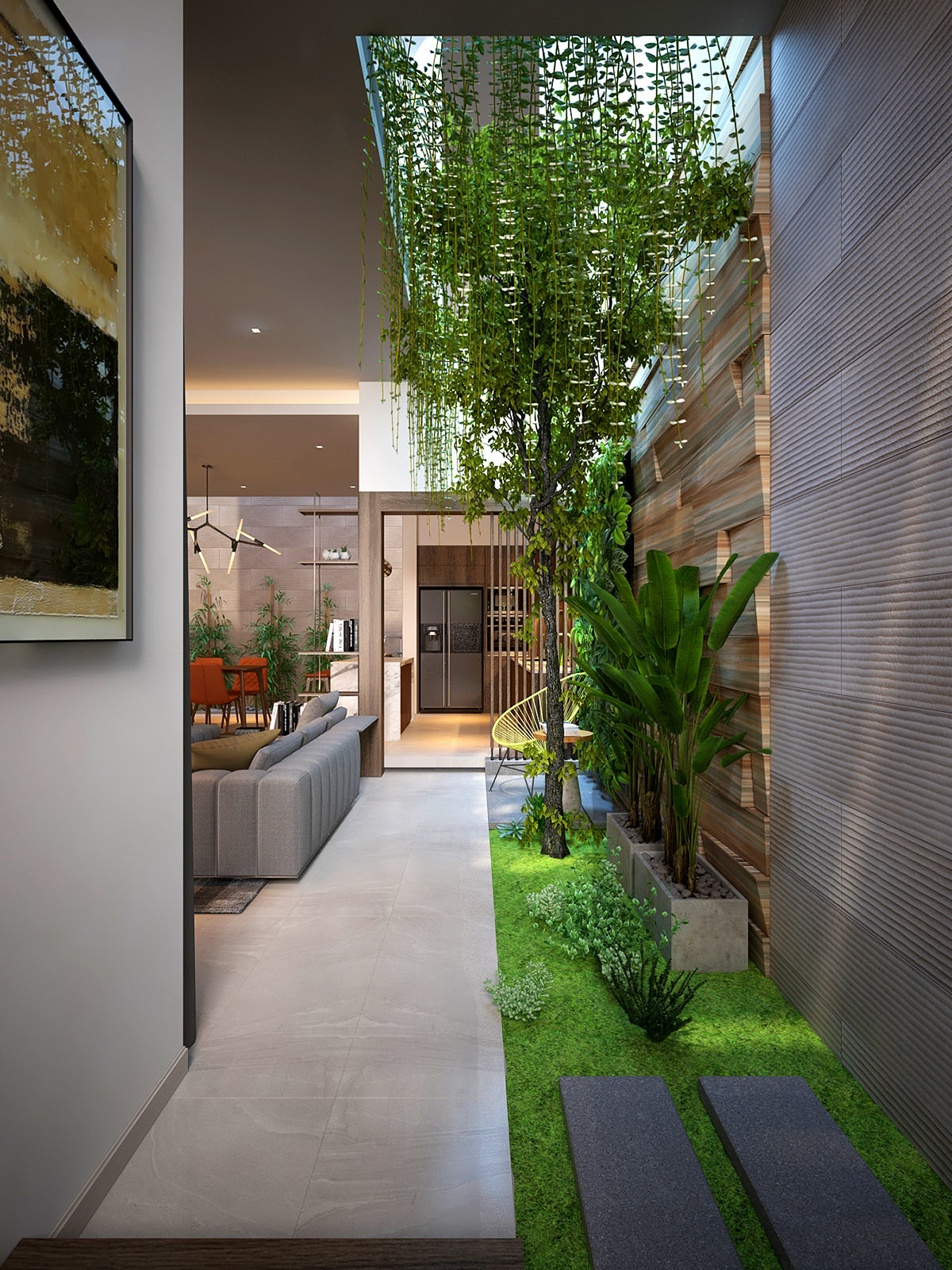 10 Homes That Feature Green Spaces Inside, With Courtyards & Terrariums