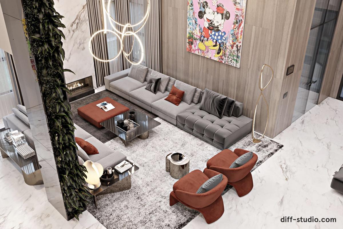 Luxury Modern Home Interior With A Sense Of Fun