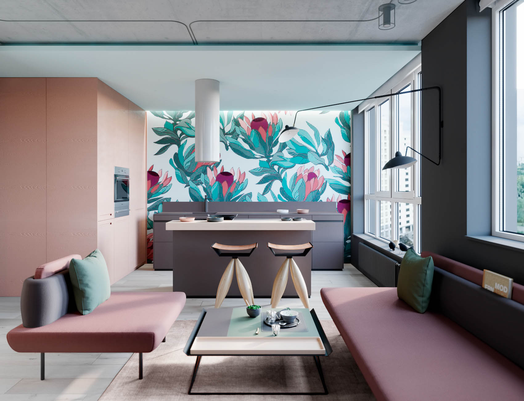 . Interior Design Using Pink And Green  3 Examples To Help You Pull It Off