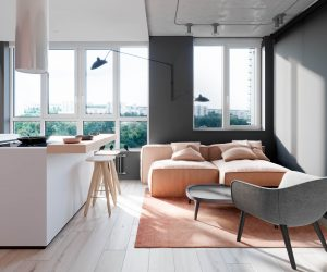 Pink And Grey Home Interiors With Inspiration