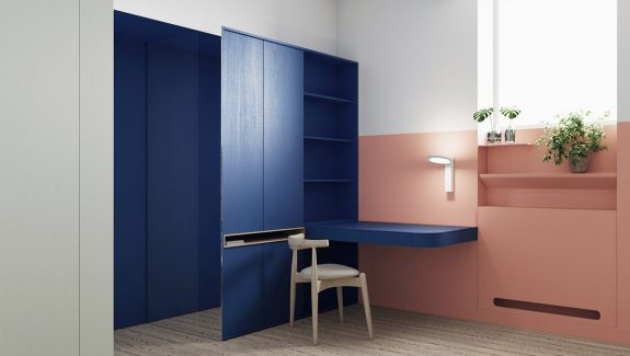 Interiors That Use Color Blocking To Segment Space