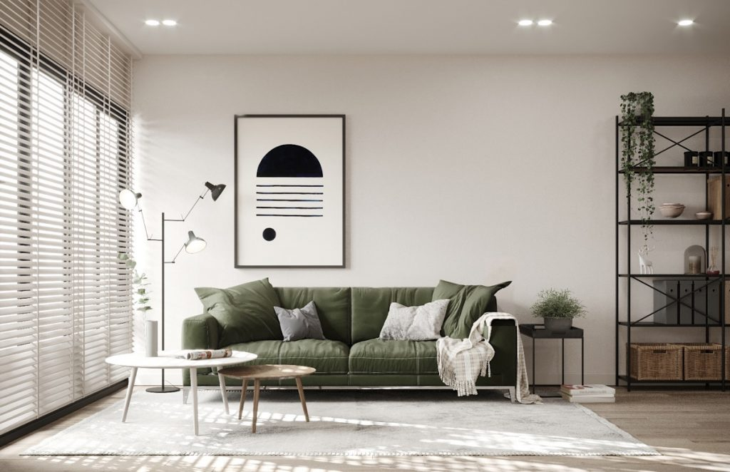 Scandinavian Style Interiors In Green