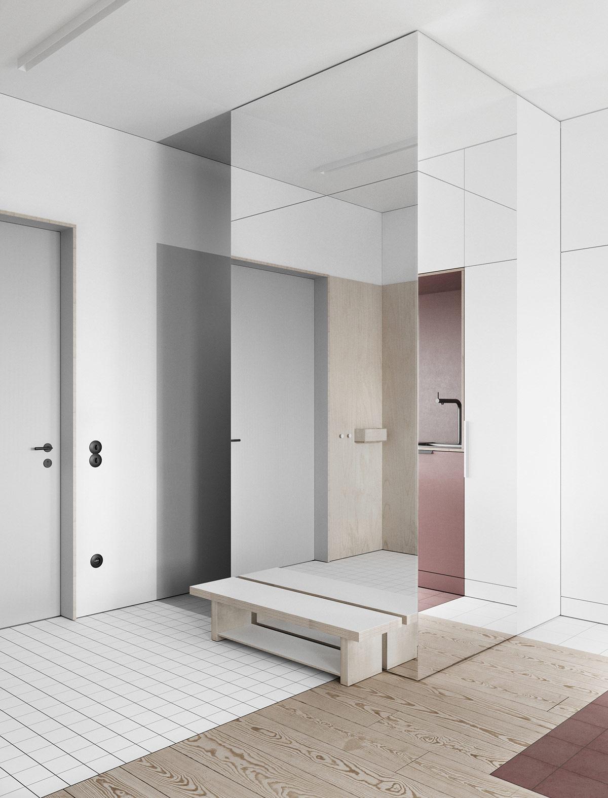 Interiors That Use Colour Blocking To Segment Space