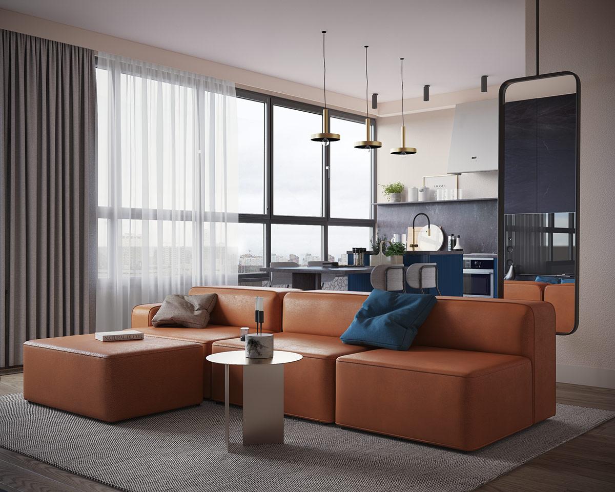 Interior Design Using Orange Blue
