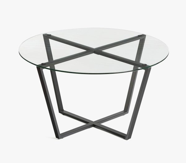 51 Round Coffee Tables To Give Your, Small Round Metal And Glass Coffee Table