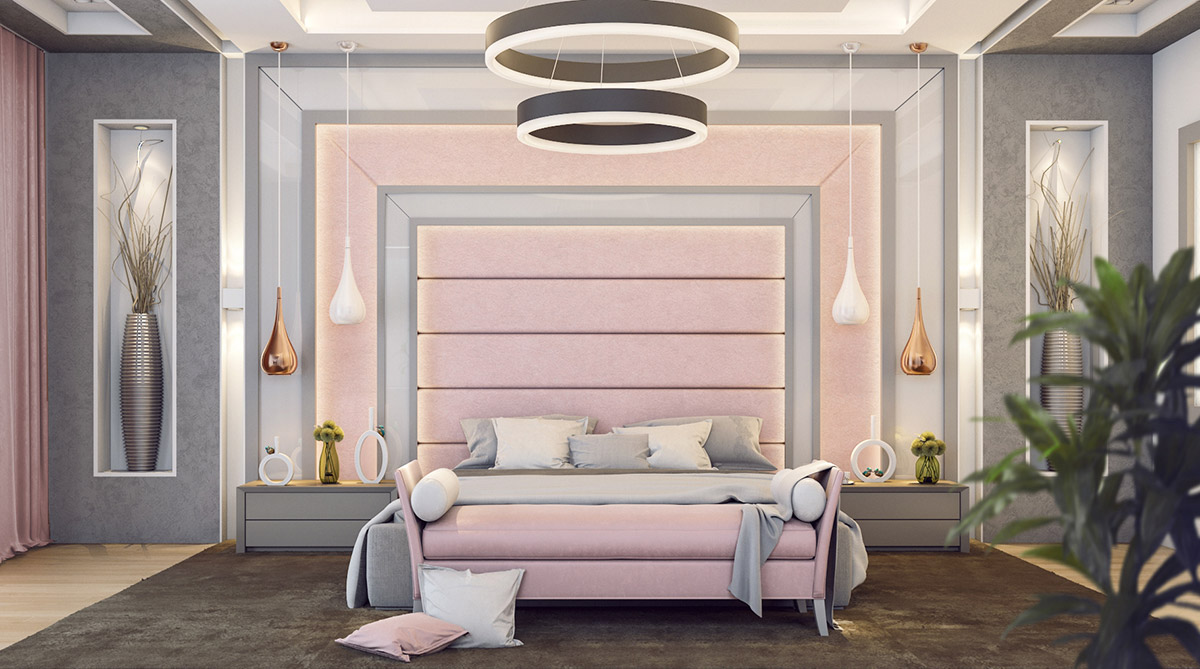 fabulous grey pink bedroom decorating ideas | 101 Pink Bedrooms With Images, Tips And Accessories To ...
