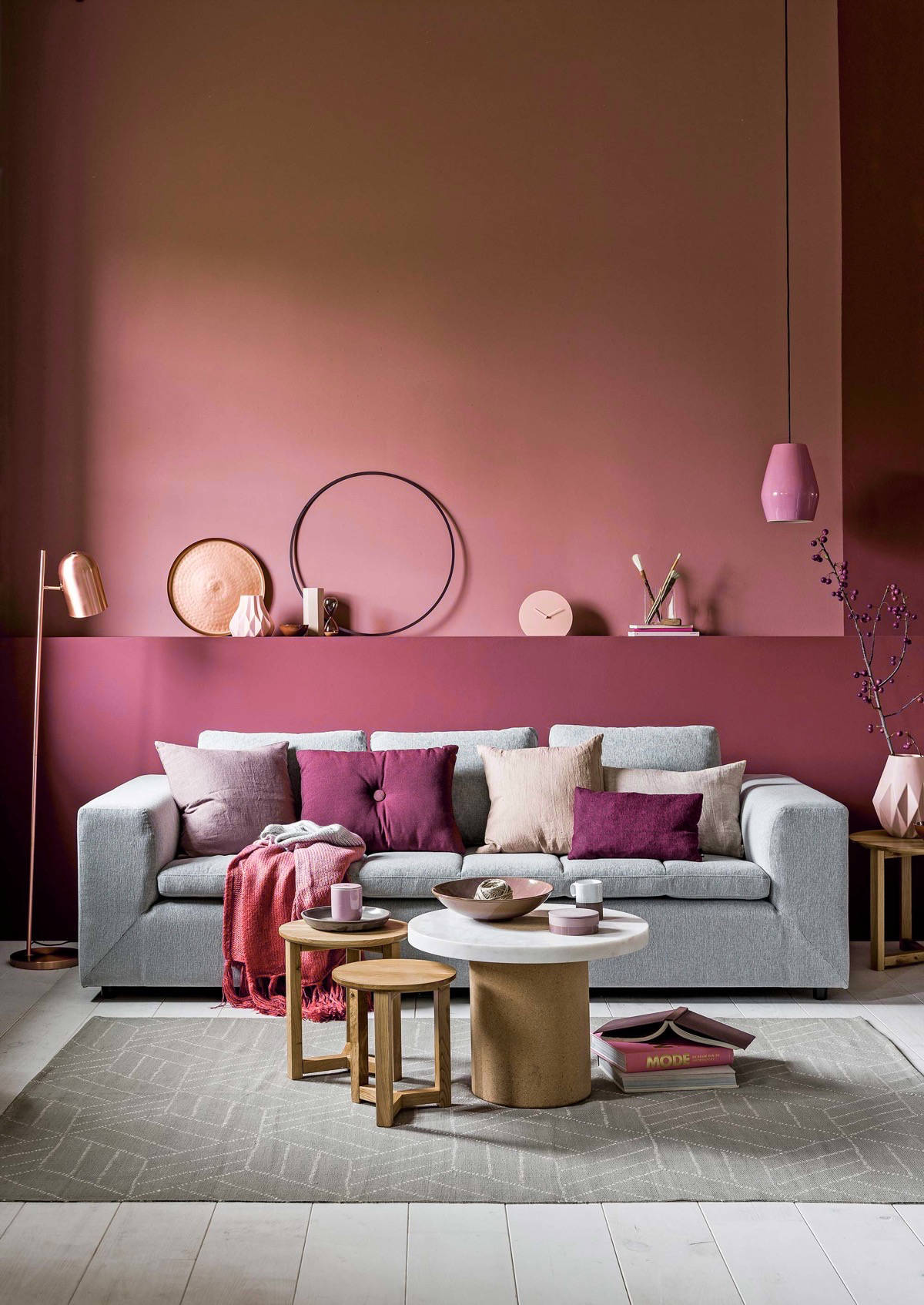 Design You Room: 51 Pink Living Rooms With Tips, Ideas And Accessories To
