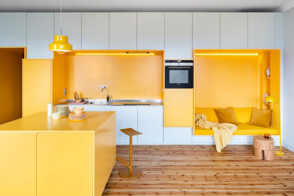 fascinating yellow kitchen white cabinets | White And Yellow Interior Design: Tips With Images To Get ...