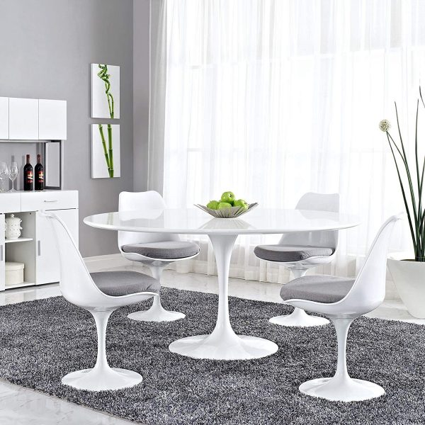 51 Round Dining Tables That Save On, Round Black High Gloss Dining Table