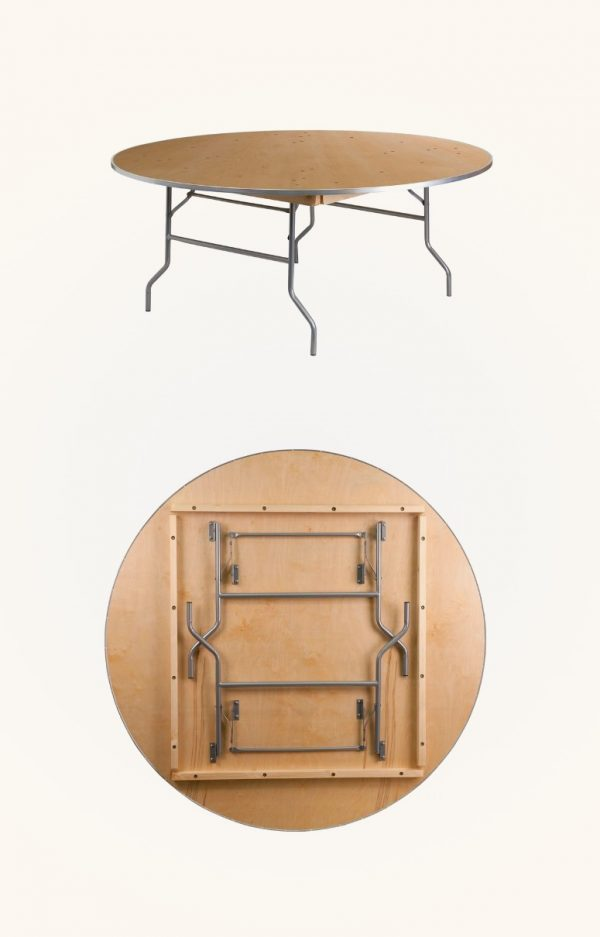 51 Round Dining Tables That Save On, Fold Up Round Table