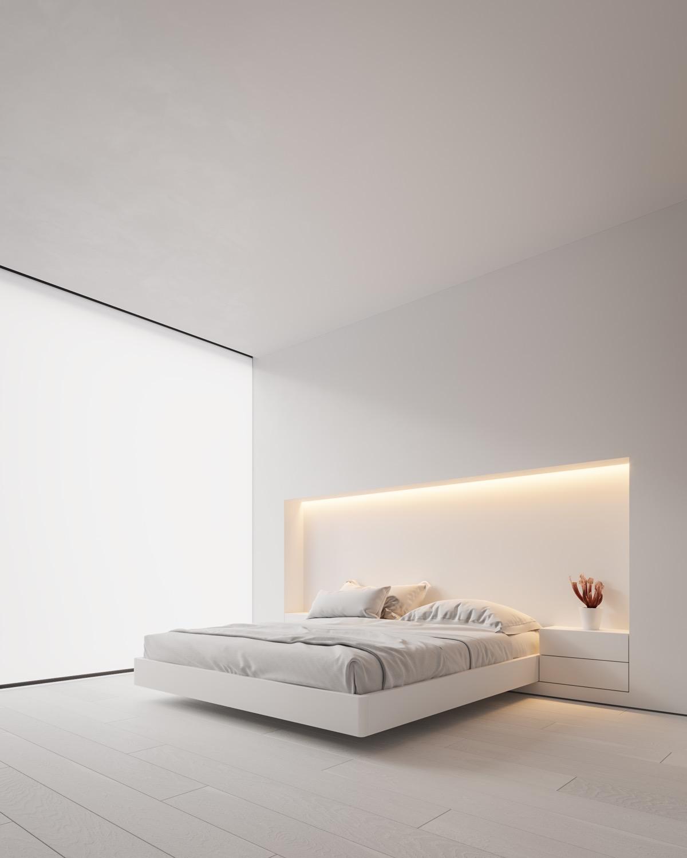 Neutral, Modern-Minimalist Interior Design: 4 Examples ... on Neutral Minimalist Bedroom Ideas  id=56163
