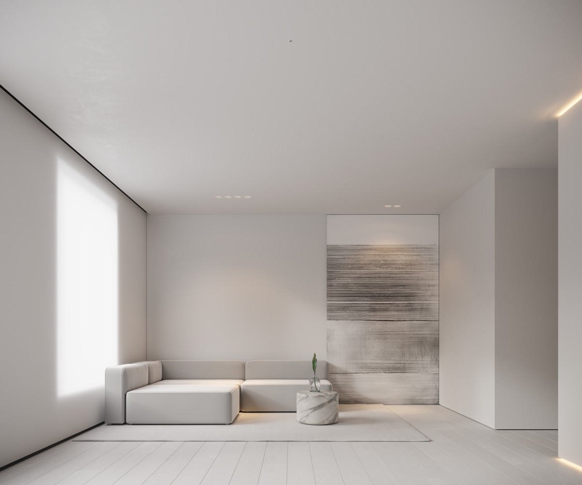 Neutral Modern Minimalist Interior Design 4 Examples