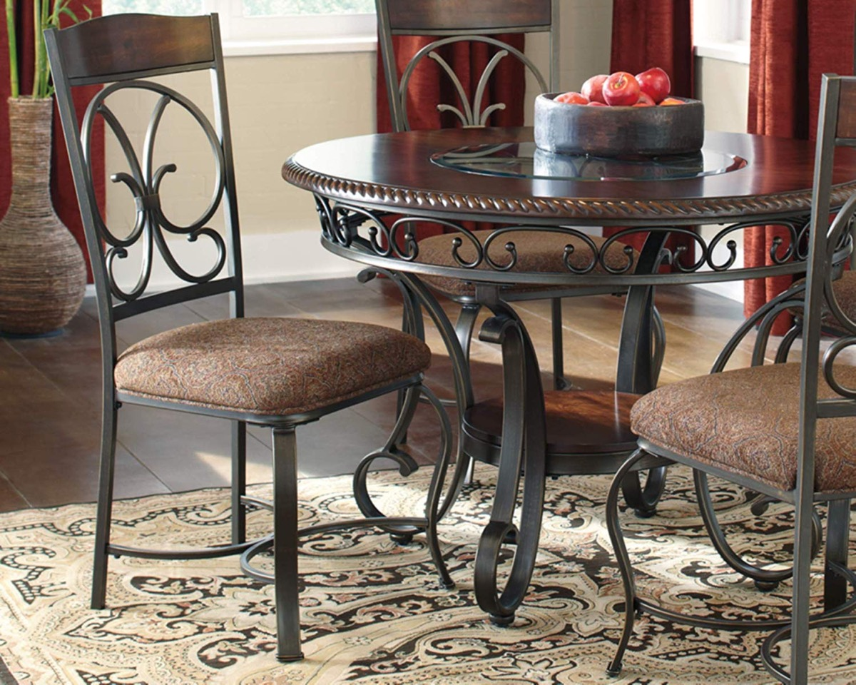 Traditional Wrought Iron Kitchen Chairs With Padded Seat And Ornate Scrolls Interior Design Ideas