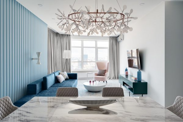 Interiors That Mix Blue And Pink Decor