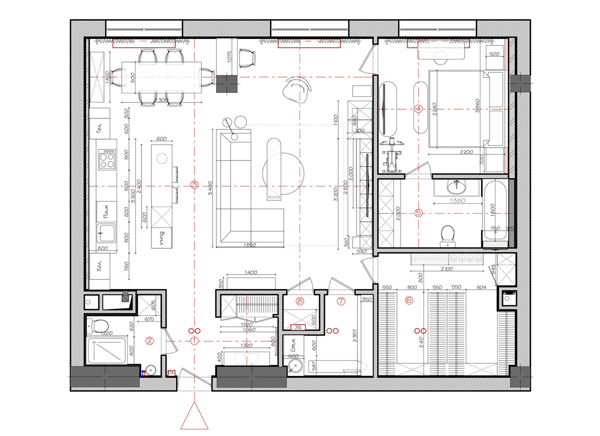 2 Apartments Under 120 Square Meters 1300 Square Feet With Floor Plans
