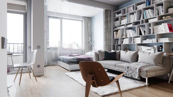 3 Small Space Apartment Interiors Under 50 Square Meters (540 Square Feet) With Layout