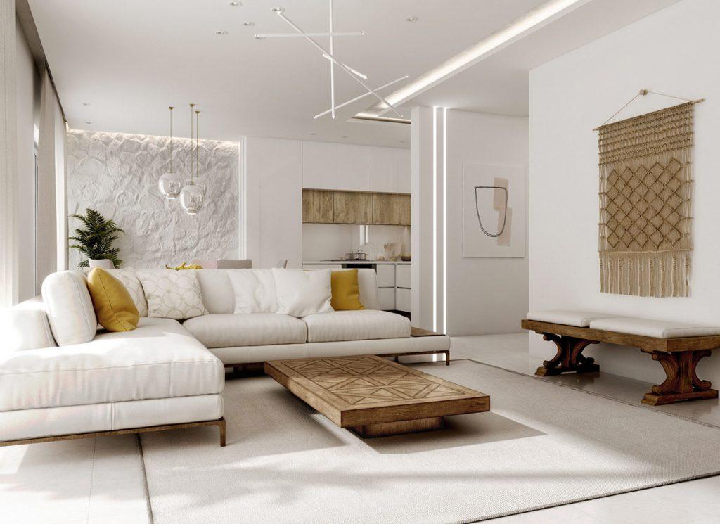 Modern mediterranean style interior design - Modern contemporary interior design ...